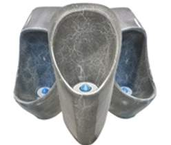 Marble black waterless urinal
